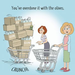CAN112  Funny Card Overdone Olives